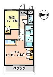 プレステージ佐野[2階]の間取り