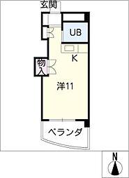 クローバーガーデンC[3階]の間取り