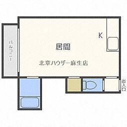 瀬比亜館 麻生[2階]の間取り