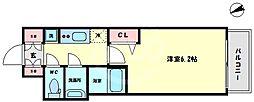 プレサンス難波インフィニティ 8階1Kの間取り