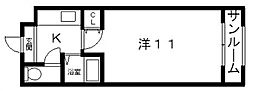 高津ヒルトン[7階]の間取り