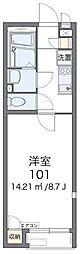 JR関西本線 高井田駅 徒歩15分の賃貸アパート 1階1Kの間取り