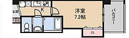 Luxe鶴見 8階1Kの間取り