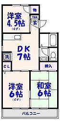 ライトコート菅野[1階]の間取り