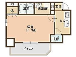 大阪府大阪市東成区東小橋3丁目の賃貸マンションの間取り
