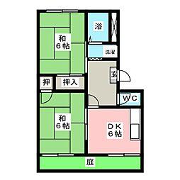 フォーブルバン[1階]の間取り