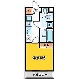 タウンコート鳴門[105号室]の間取り
