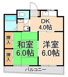 ハイムアベ[3階]の間取り