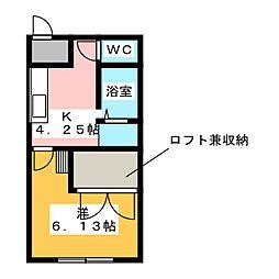 ハイツ・ウェルナウII[1階]の間取り