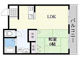 阪急京都本線 水無瀬駅 徒歩7分の賃貸アパート 1階1LDKの間取り