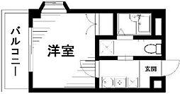 東京都大田区羽田5丁目の賃貸マンションの間取り