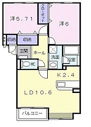 北海道札幌市白石区の賃貸マンションの間取り