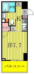 ザ・カシワ拾番[8階]の間取り
