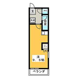 ジュネス大橋[1階]の間取り