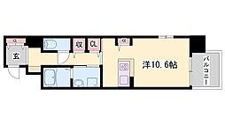 JR姫新線 姫路駅 徒歩14分の賃貸マンション 3階1Kの間取り