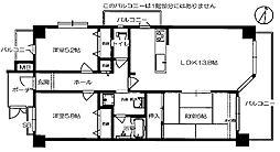 ヴェルデサコート桜ヶ丘 - Aタイプ[201号室]の間取り