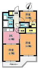 埼玉県さいたま市岩槻区本町5丁目の賃貸マンションの間取り
