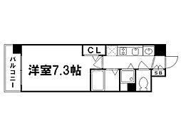 プレサンス京都修学院[1階]の間取り