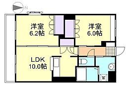 サンライズ亀甲[2階]の間取り