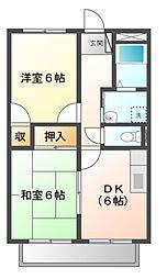 サンサープラスI[2階]の間取り