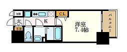 名古屋市営桜通線 車道駅 徒歩6分の賃貸マンション 13階1Kの間取り