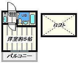 東京都葛飾区金町3丁目の賃貸アパートの間取り