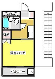 神奈川県相模原市中央区氷川町の賃貸マンションの間取り
