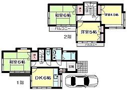 [一戸建] 東京都武蔵野市境1丁目 の賃貸【東京都 / 武蔵野市】の間取り