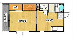 福岡県北九州市八幡西区東王子町の賃貸マンションの間取り