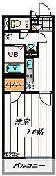 埼玉新都市交通 今羽駅 徒歩10分の賃貸マンション 2階1Kの間取り
