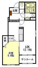 エトワール藤方I[1階]の間取り