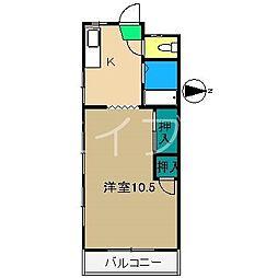 舟入ハイツ[3階]の間取り