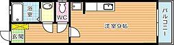 コーポフジモト[2階]の間取り