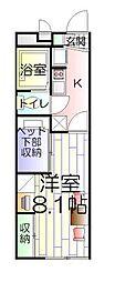 千葉県松戸市大金平5丁目の賃貸アパートの間取り