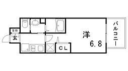 エステムコート神戸ハーバーランド前VIIレーベル[301号室]の間取り