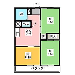 ヨコイ歯科ビル[3階]の間取り