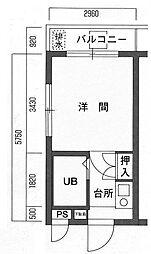 メインステージ幡ヶ谷駅前[1階]の間取り