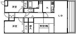 シャルマン木ノ元[4階]の間取り