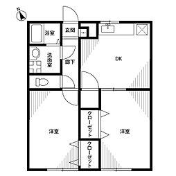 アムール 葉桜[2階]の間取り
