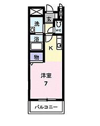 ステュディオHARUYAMA[102号室]の間取り