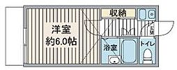 M&M川越[101号室]の間取り