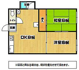 コーポKATUYAMA[2階]の間取り