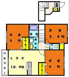 山手メゾン弐[2階]の間取り