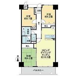 ライオンズマンション桃山南口[4階]の間取り