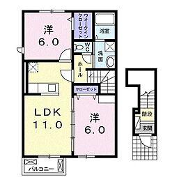 モンテ パードレ Ⅱ[2階]の間取り