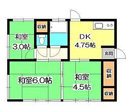 [一戸建] 東京都清瀬市中清戸2丁目 の賃貸【/】の間取り