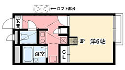 兵庫県西宮市段上町1丁目の賃貸アパートの間取り