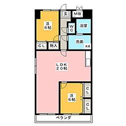 グレイスコート千代田[9階]の間取り