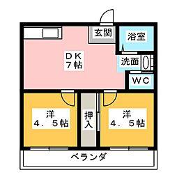 ドエル本郷[2階]の間取り