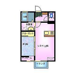 フェリックスD[2階]の間取り